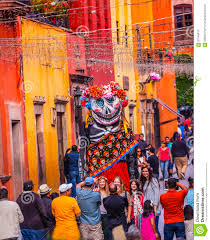 San Miguel De Allende Mexico Map by Walking Puppet Tourists Jardin Town Square San Miguel De Allende