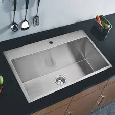 Kitchen Sinks Stores Water Creation Ss Ts 3322a Universal Satin Drop In Single Bowl