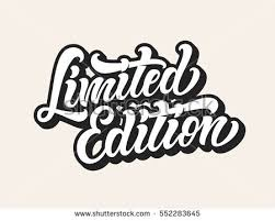 limited edition limited edition lettering vector illustration stock vector