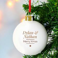 personalised christmas decorations personalised baubles