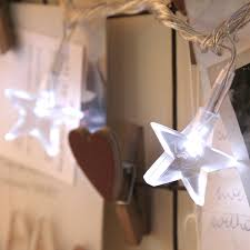 battery operated star fairy lights with 10 white leds by