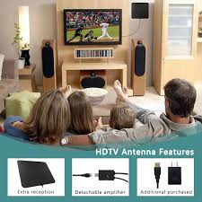amazon com tv antenna 50 miles booster coolmade 2017 indoor