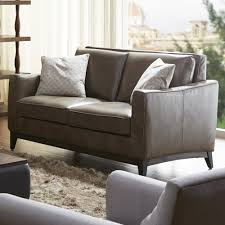 Contemporary Leather Loveseat Kuka Home 1962 Contemporary Leather Match Loveseat Wilson U0027s