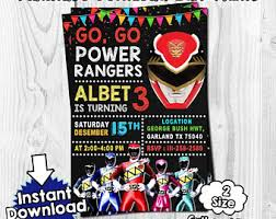 power rangers wrapping paper power rangers etsy