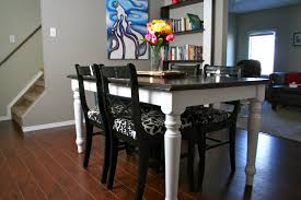 painted dining room table kitchen table how to refinish a table without sanding
