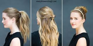 hairstyles only 42 easy hairstyles for girls simple step by step pictures