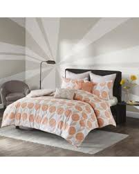 Orange King Size Duvet Covers Fall Savings On Urban Habitat Stella Coral Cotton 7 Piece Printed