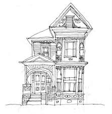 drawing houses old house line drawing google search pinteres