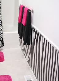 zebra bathroom ideas has the zebra with pink shower curtain pink mats and pink