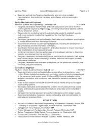Sample Software Engineer Resume by Mechanical Engineering Resume Mechanical Engineer Page 3 2