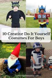 10 creative do it yourself costumes for boys saving and simplicity