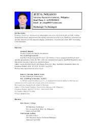 Radiologic Technologist Resume Examples Med Tech Resume Sample Click Here To Download This Lab