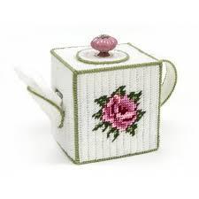 maxim teapot tissue box cover plastic canvas kit