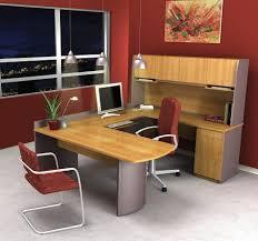 L Shaped Home Office Furniture Steel Desk Solid Wood Office Desk Cherry Wood Desk U Shaped Home