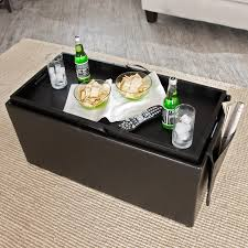 serving tray side table hartley coffee table storage ottoman with tray side ottomans