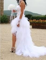 robe mari e courte devant longue derriere de mariée d occasion couture courte devant longue derrière t34