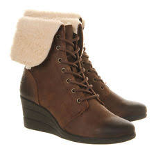s ugg australia brown zea boots ugg australia wedge lace up shoes for ebay
