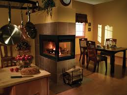 Kitchen Fireplace Design Ideas by Living Room Stylish Fireplace Inserts With Dining Set And