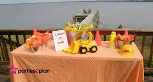 Construction Party Centerpieces by Party Plan Construction Theme Birthday Party Parties2plan