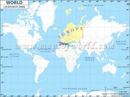 where s where is spain located location map of spain