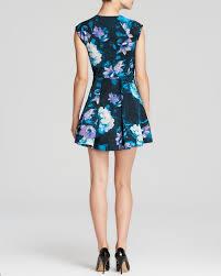 guess dress scuba floral in blue lyst