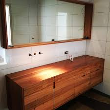 Bathroom Vanity Units Melbourne by Love This Timber Vanity And Mirror Bathroom Renovation
