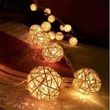 rattan ball fairy lights rattan ball string fairy lights turbodealz