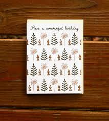 nature pattern birthday card 3 pack gifts happy birthday snow