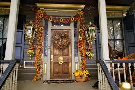 nice elegant design of the front door decor ideas that has blue