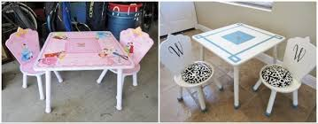 Princess Table And Chairs Upcycled Children U0027s Play Table Diy Inspired