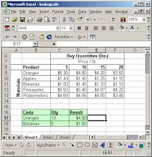 How To Create A Lookup Table In Excel Ms Excel Two Dimensional Lookup Example 1