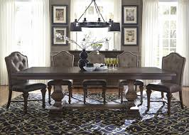 lucca dining table 7pc set 535 dr in cordovan brown by liberty