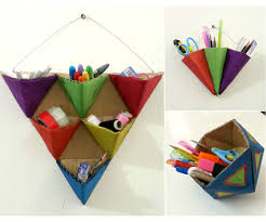 How To Make Desk Organizers by Diy Triangle Organizers 5 Steps With Pictures