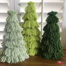 make this trio of tassel yarn trees craft warehouse