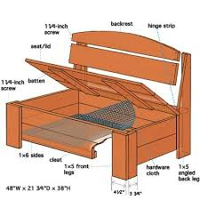 Wooden Bench Seat Plans by Bedroom Wonderful Best 25 Garden Storage Bench Ideas On Pinterest