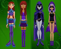 Starfire Costume Teen Titans Raven And Starfire Ourgemcodes