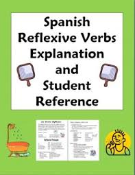 54 best spanish reflexive verbs images on pinterest daily