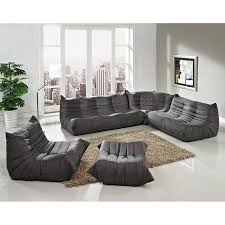 Modern Microfiber Sectional Sofas by Shop Modway Waverunner Light Gray Microfiber Sectional At Lowes Com
