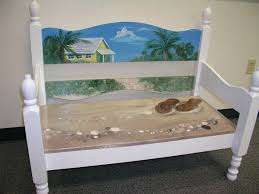 Beach Benches Designs Pin By Jenn On Painted Pieces Pinterest Bench Paint Furniture