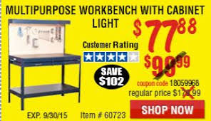 Workbench With Light Harbor Freight Tools Coupon Database Free Coupons 25 Percent