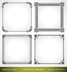 vintage frames set calligraphic ornamental photo frames