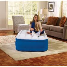 air comfort deep sleep twin size raised air mattress with built in
