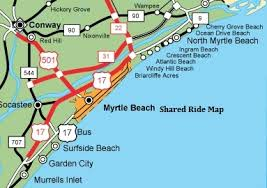 myrtle boardwalk map shared ride to or from myr myrtle airport shuttle myr