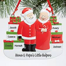 grandparent christmas ornaments personalized mr and mrs claus christmas ornament