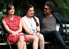 eating ice cream on a bench with mark ruffalo