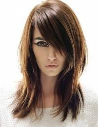 cute layered haircuts for long hair with side bangs back view 12