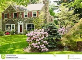 family house with beautiful front lawn stock photos image 28151263