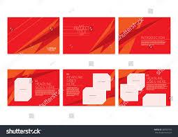 presentation slides template design brochure cover stock vector