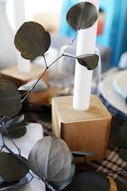 diy wooden bedpost candlesticks our thanksgiving table pepper