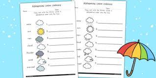 winter alphabet ordering worksheet a z order seasons